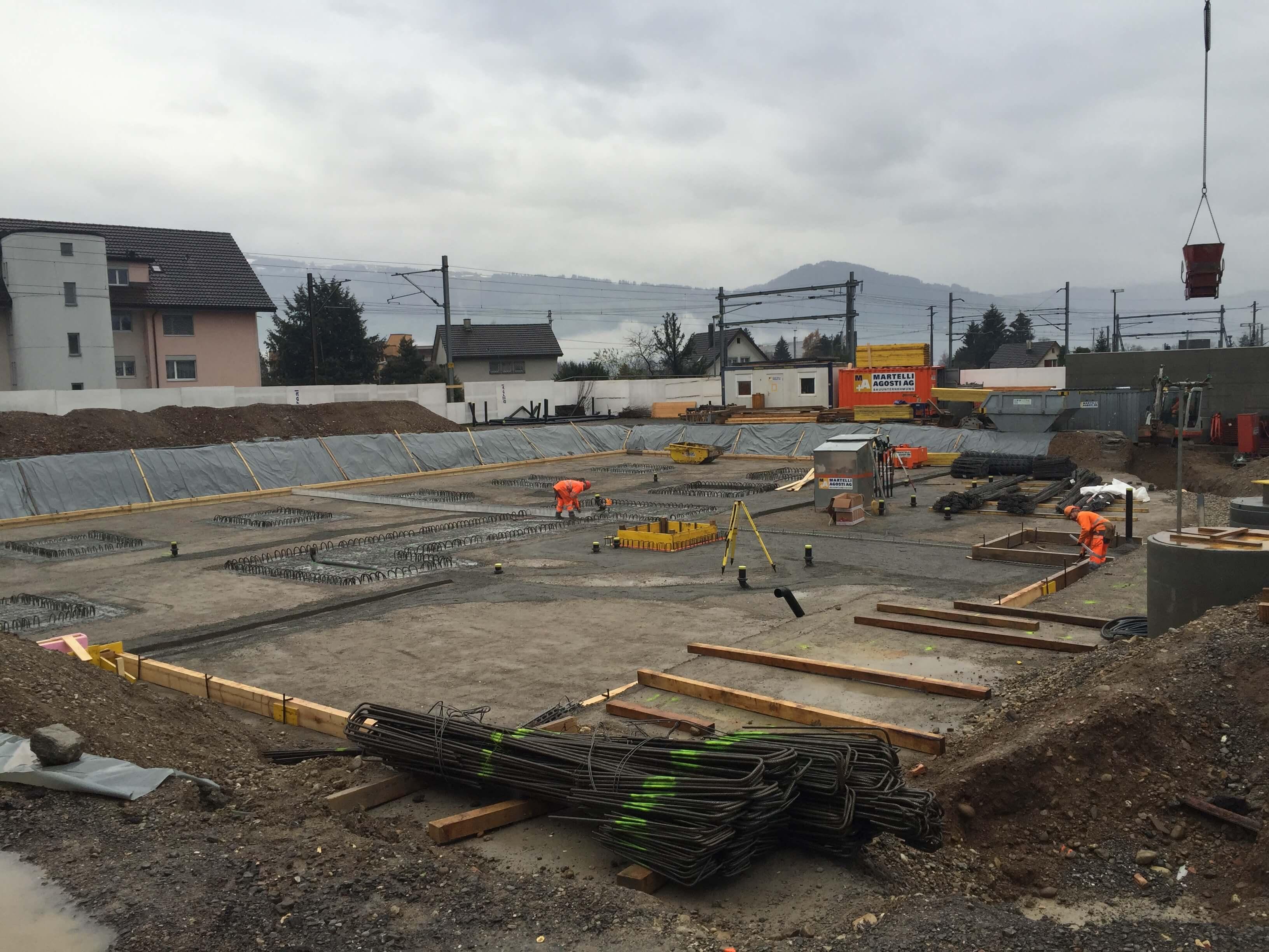 Wohnüberbauung an der Greithstrasse in Rapperswil: Versickerungsanlage / Liftunterfahrt