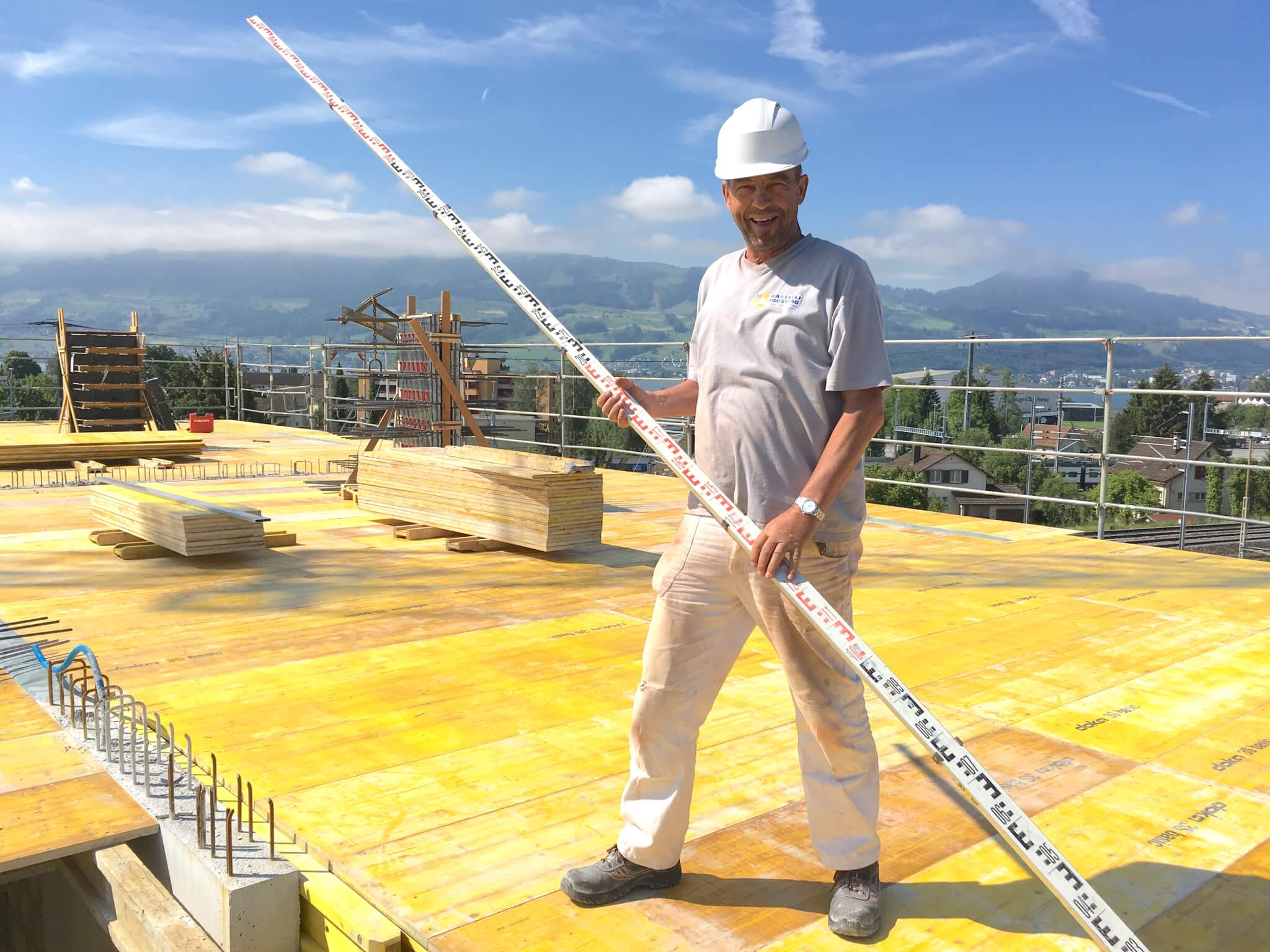 Wohnüberbauung an der Greithstrasse in Rapperswil: Die letzte Decke wird geschalt